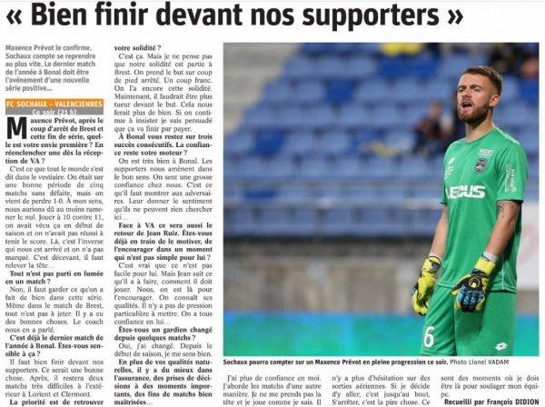 2017 Ligue 2 J17 SOCHAUX VALENCIENNES 3-1, le 28/11/2017