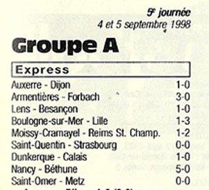1998 CFA J05 SENART-MOISSY REIMS 1-2, le 04/09/1998
