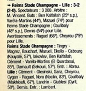 1998 CFA J07 REIMS LILLE 3-2, le 19/09/1998