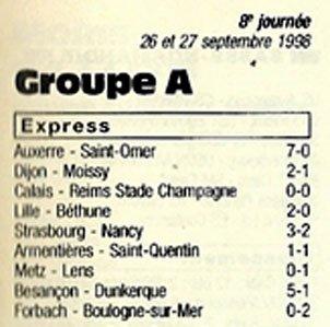 1998 CFA J08 CALAIS REIMS 0-0, le 26/09/1998