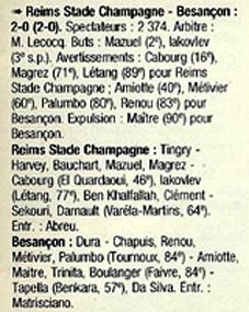 1998 CFA J09 REIMS BESANCON 2-0, le 03/10/1998