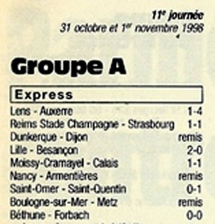 1998 CFA J11 REIMS STRASBOURG 1-1, le 31/10/1998