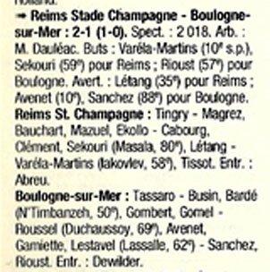 1998 CFA J19 REIMS BOULOGNE 2-1, le 06/02/1999