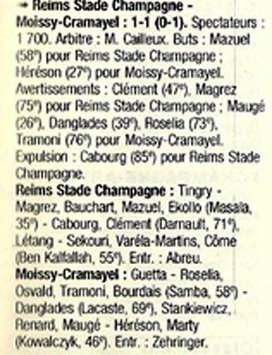 1998 CFA 21 REIMS MOISSY-CRAMAYEL 1-1, le 27/02/1999