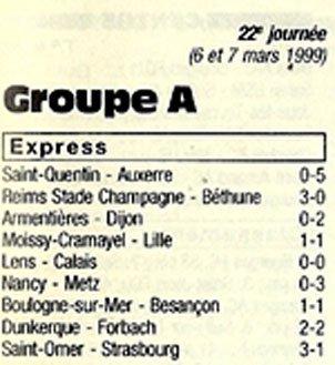 1998 CFA J22 REIMS BETHUNE 3-0, le 06/03/1999