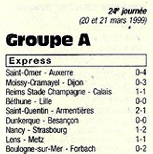 1998 CFA J24 REIMS CALAIS 1-1, le 23/03/1999