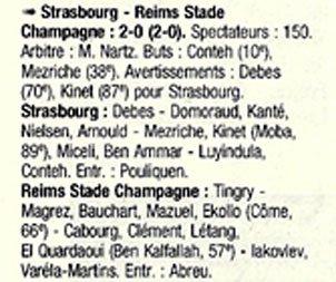 1998 CFA J27 STRASBOURG REIMS 2-0, le 10/04/1999