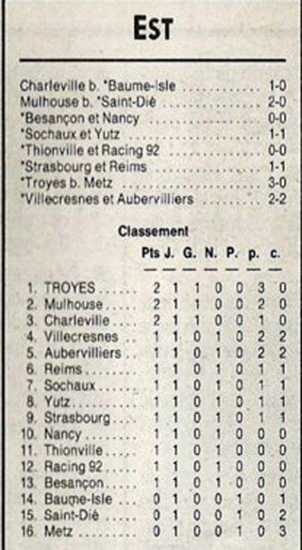 1991 D3 J01 STRASBOURG REIMS 1-1, le 17/08/1991