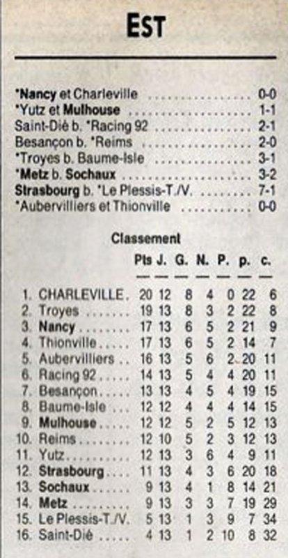 1991 D3 J13 REIMS BESANCON 0-2, le 09/11/1991