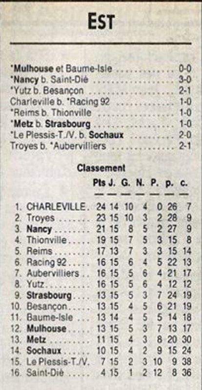 1991 D3 J15 REIMS THIONVILLE 1-0, le 08/12/1991