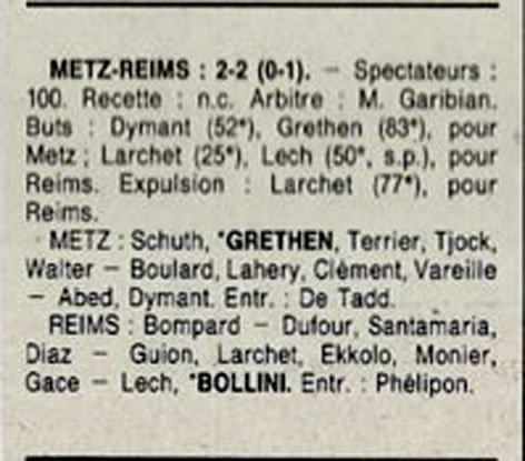 1991 D3 J18 METZ REIMS 2-2, le 02/02/1992