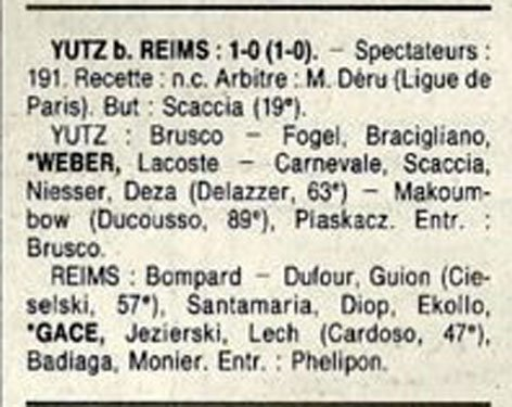 1991 D3 J21 YUTZ REIMS 1-0, le 01/03/1992