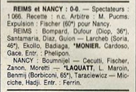 1991 D3 J22 REIMS NANCY 0-0, le 08/03/1992
