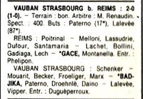 1990 D3 J05 REIMS VAUBAN STRASBOURG 0-2, le 15/09/1990
