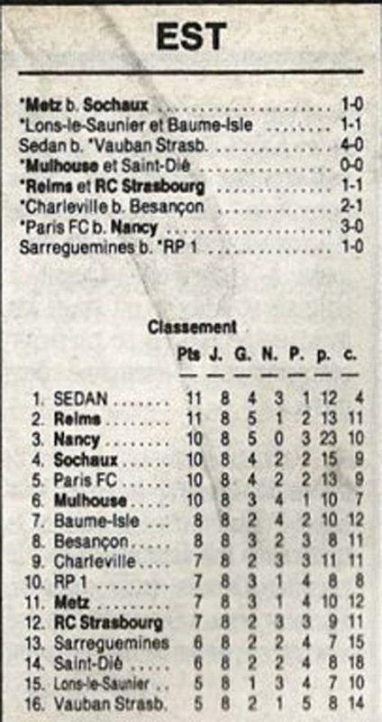 1990 D3 J08 REIMS STRASBOURG 1-1, le 05/10/1990
