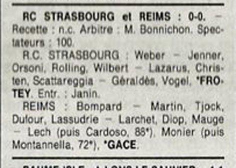 1990 D3 J22 STRASBOURG REIMS 0-0, le 16/03/1991