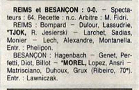 1990 D3 J27 REIMS BESANCON REIMS 0-0, le 27/04/1991