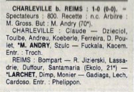 1990 D3 J30 CHARLEVILLE REIMS 1-0, le 18/05/1191