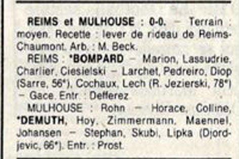 1989 D3 J10 REIMS MULHOUSE 0-0, le 15/10/1989