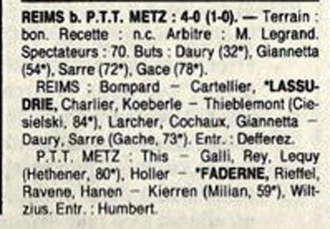 1989 D3 J12 REIMS ASPTT METZ 4-0, le 29/10/1989