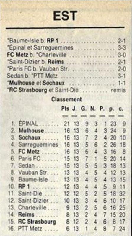 1989 D3 J13 SAINT-DIZIER REIMS 2-1, le 05/11/1989