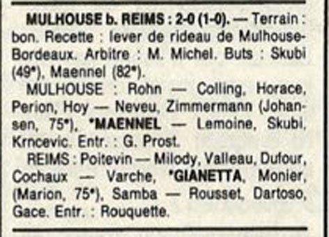 1989 D3 J24 MULHOUSE REIMS 2-0, le 31/03/1990