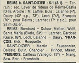 1989 D3 J27 REIMS SAINT-DIZIER 5-1, le 28/04/1990