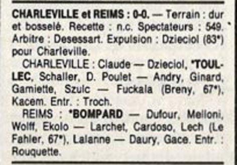 1989 D3 J28 CHARLEVILLE REIMS 0-0, le 05/05/1990