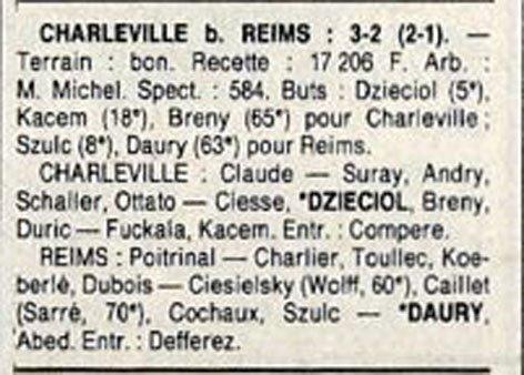 1988 D3 J08 CHARLEVILLE REIMS 3-2, le 02/10/1988
