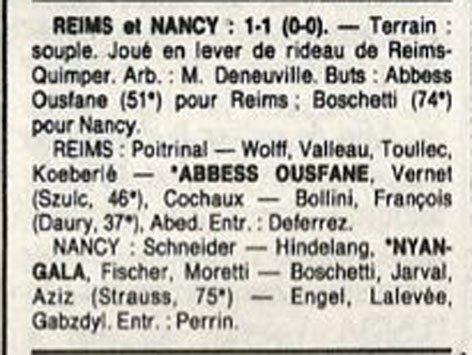 1988 D3 J09 REIMS NANCY 1-1, le 09/10/1988