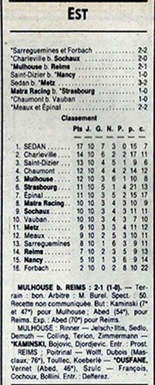 1988 D3 J10 MULHOUSE REIMS 2-1, le 16/10/1988