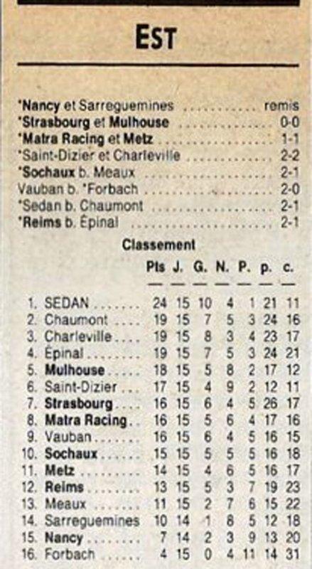1988 D3 J15 REIMS EPINAL 2-1, le 04/12/1988