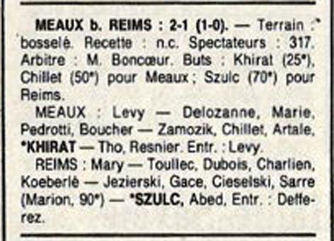 1988 D3 J27 MEAUX REIMS 2-1, le 07/05/1989