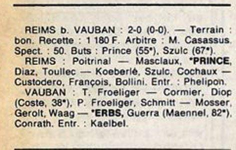 1987 D3 J01 REIMS VAUBAN-STRASBOURG 2-0, le 15/08/1987