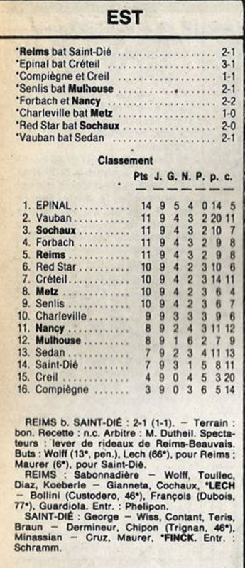1987 D3 J09 REIMS SAINT-DIE 2-1, le 10/10/1987