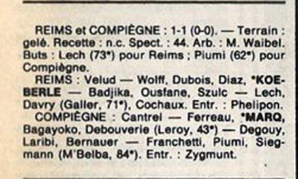 1987 D3 J16 REIMS COMPIEGNE 1-1, le 12/12/1987