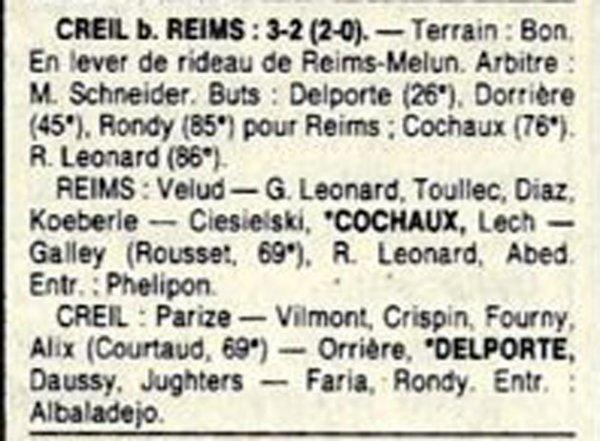 1987 D3 J18 REIMS CREIL 2-3, le 20/02/1988
