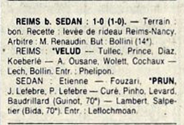 1987 D3 J20 REIMS SEDAN 1-0, le 05/03/1988