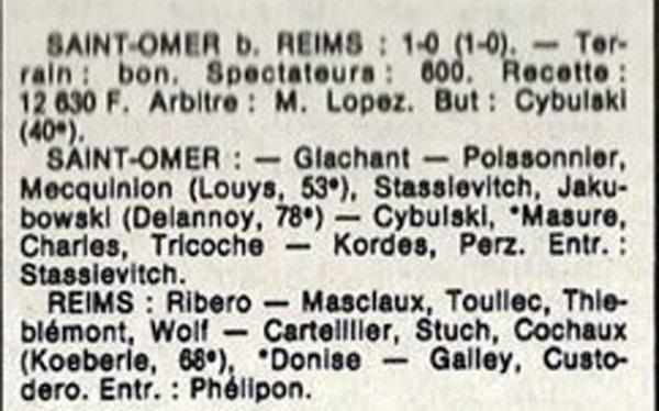 1986 D3 J02 SAINT-OMER REIMS , le 24/08/1986