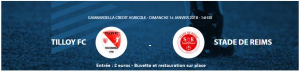 2017 GAMBARDELLA 64ème : TILLOY lès MOFFLAINES REIMS 1-3 , le 14/01/2017