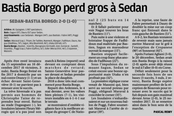 2017 NATIONAL 2 J16 SEDAN BASTIA BORGO 2-0, le 13/01/2018