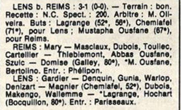 1986 D3 J09 REIMS LENS 1-3, le 12/10/1986