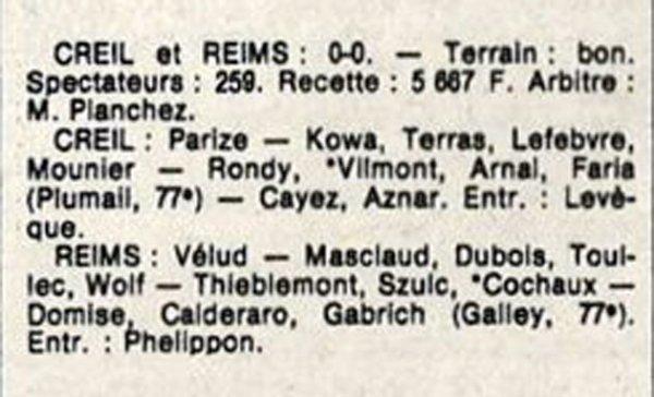 1986 D3 J10 CREIL REIMS 0-0, le 19/10/1986