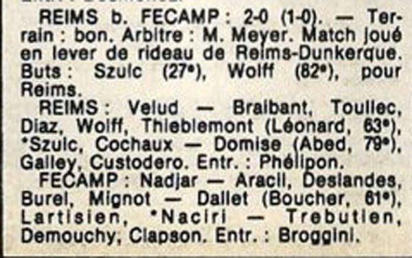 1986 D3 J12  REIMS FECAMP 2-0, le 02/11/1986