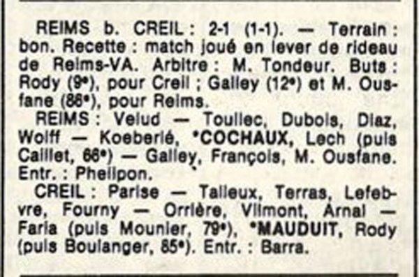 1986 D3 J24 REIMS CREIL 2-1, le 26/04/1987