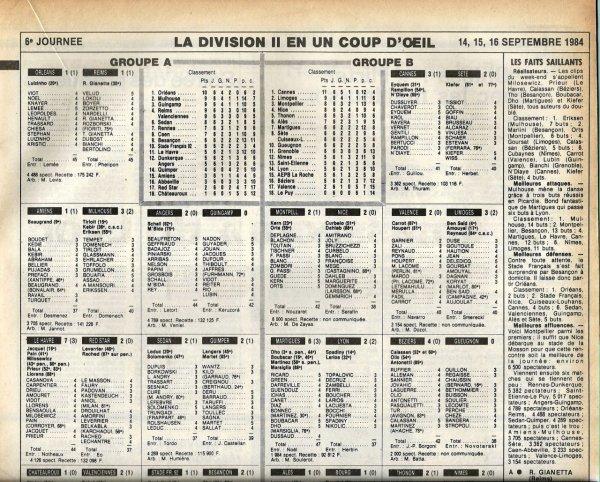 1984 D2A J06 ORLEANS REIMS 1-1, le 14/09/1984