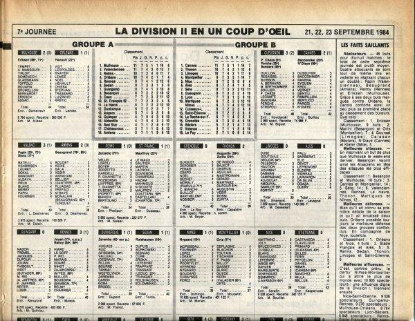 1984 D2A J07 REIMS STADE FRANCAIS 1-1, le 21/09/1984