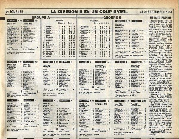 1984 D2A J08 MULHOUSE REIMS 1-1, le 28/09/1984