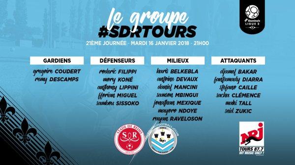 2017 Ligue 2 J21 REIMS TOURS , l'avant match, le 16/01/2018
