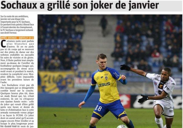 2017 Ligue 2 J20 SOCHAUX QUEVILLY-ROUEN 0-1, le 12/01/2018